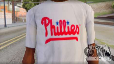 Phillies T-Shirt для GTA San Andreas третий скриншот