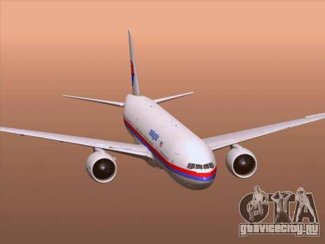 Boeing 777-2H6ER Malaysia Airlines для GTA San Andreas колёса