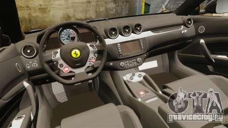 Ferrari FF 2011 для GTA 4 вид изнутри
