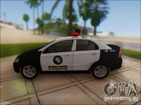 Chevrolet Aveo Police для GTA San Andreas вид слева