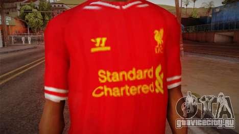 Liverpool FC 13-14 Kit T-Shirt для GTA San Andreas третий скриншот