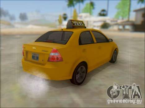 Chevrolet Aveo Taxi для GTA San Andreas вид сбоку