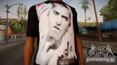 Eminem Fuck Off T-Shirt для GTA San Andreas третий скриншот