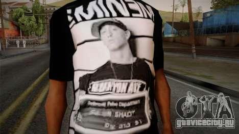 Eminem T-Shirt для GTA San Andreas третий скриншот