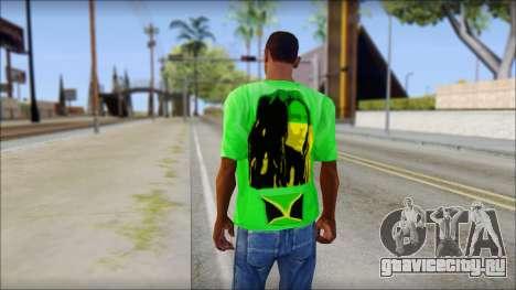 Bob Marley Jamaica T-Shirt для GTA San Andreas второй скриншот