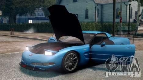 Chevrolet Corvette Z06 (C5) 2002 V3.0 [EPM] для GTA 4 вид сзади