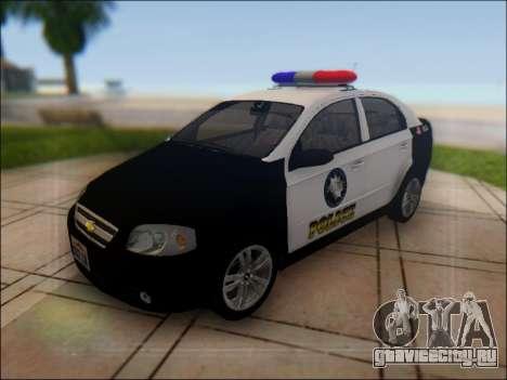 Chevrolet Aveo Police для GTA San Andreas вид сверху