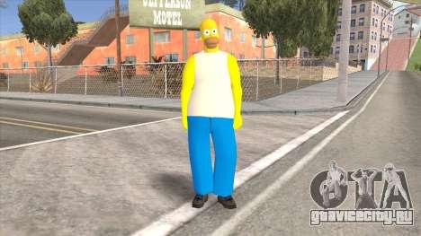 Homer Simpson Skin для GTA San Andreas