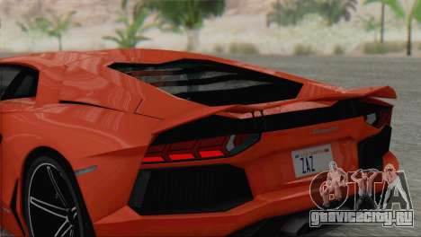 Lamborghini Aventador LP700-4 2012 для GTA San Andreas вид сбоку