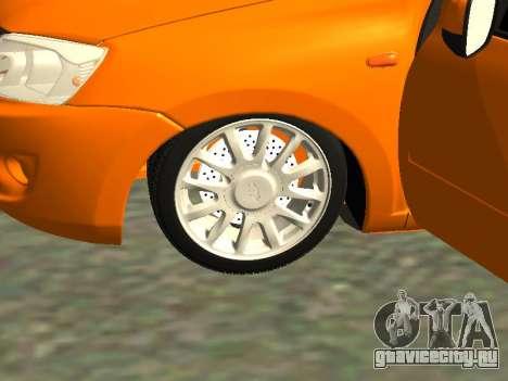 Lada Granta для GTA San Andreas вид сзади