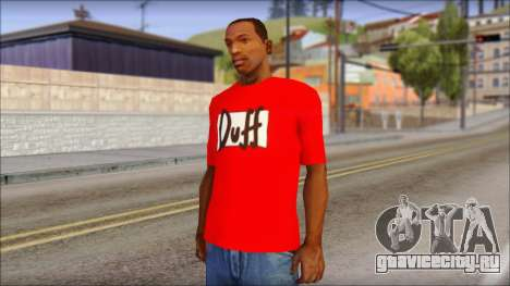 Duff T-Shirt для GTA San Andreas