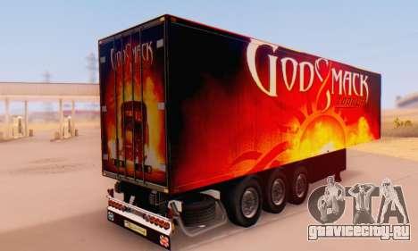 Godsmack - 1000hp Trailer 2014 для GTA San Andreas вид слева