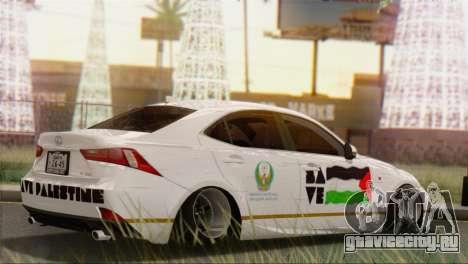 Lexus IS350 FSport 2014 Hellaflush для GTA San Andreas вид сзади слева