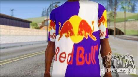 Red Bull T-Shirt для GTA San Andreas третий скриншот
