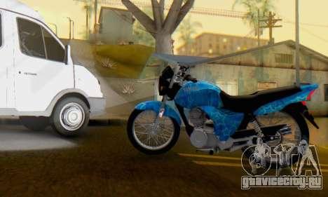 Yamaha YBR Blue Star для GTA San Andreas вид слева