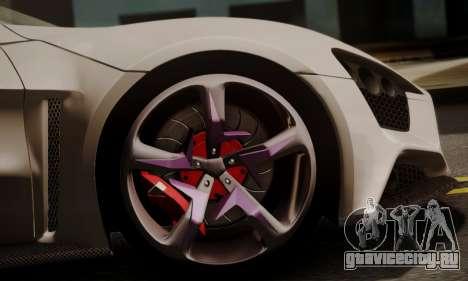 Zenvo ST SHDru Tuning для GTA San Andreas вид справа