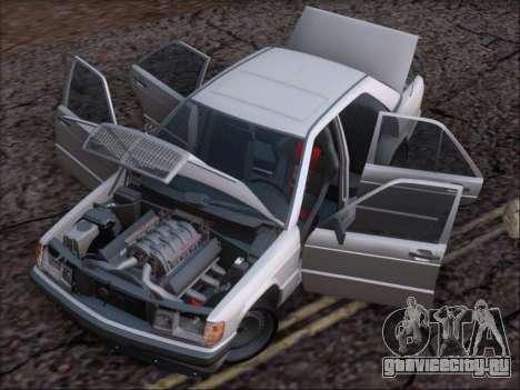 Mercedes Benz 190E Drift V8 для GTA San Andreas вид снизу
