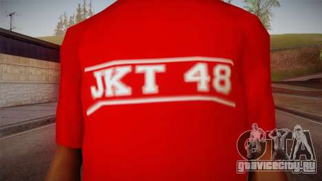 JKT48 Hardcore T-Shirt для GTA San Andreas третий скриншот