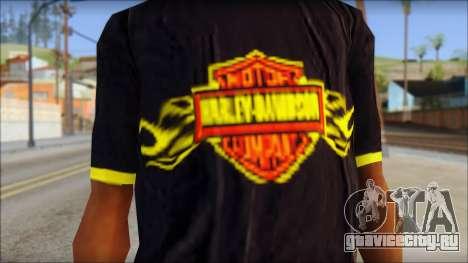 Harley Davidson T-Shirt для GTA San Andreas третий скриншот
