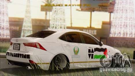 Lexus IS350 FSport 2014 Hellaflush для GTA San Andreas вид слева