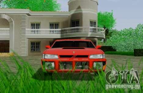 Sultan Coupe для GTA San Andreas вид сзади