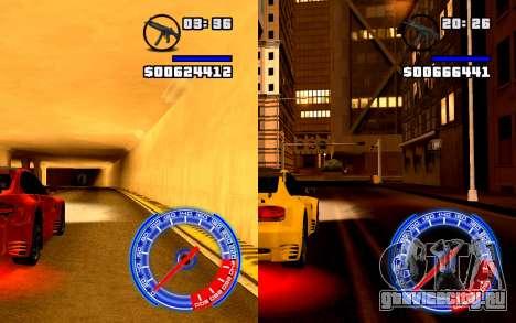 Спидометр Concept StyleV4x3 для GTA San Andreas третий скриншот