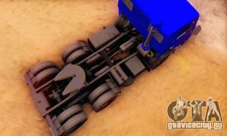 КамАЗ 54112 IVF для GTA San Andreas вид изнутри