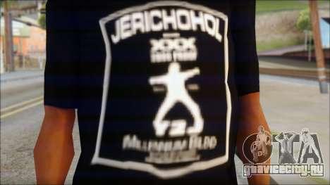 Chris Jericho Jerichohol T-Shirt для GTA San Andreas третий скриншот