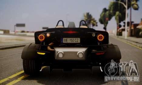 KTM X-Bow R 2011 для GTA San Andreas вид сбоку
