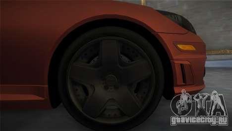 Mercedes-Benz SLK55 AMG Tuned для GTA Vice City вид сзади слева