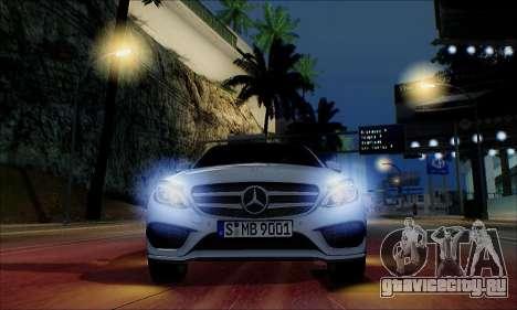 Mercedes-Benz C250 2014 V1.0 EU Plate для GTA San Andreas вид сверху