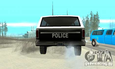 New Police Ranger для GTA San Andreas вид сзади слева