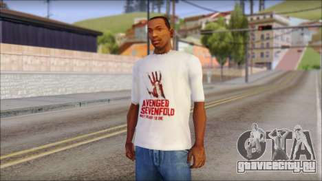 A7X Not Ready To Die Fan T-Shirt для GTA San Andreas