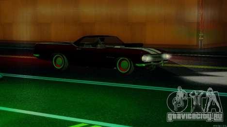 ГАЗ El Camino SS v.2 для GTA San Andreas вид изнутри
