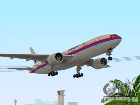 Boeing 777-2H6ER Malaysia Airlines для GTA San Andreas салон