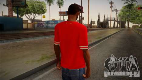 Liverpool FC 13-14 Kit T-Shirt для GTA San Andreas второй скриншот