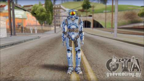 Masterchief Blue from Halo для GTA San Andreas второй скриншот