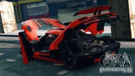 Koenigsegg Agera R 2013 для GTA 4 вид изнутри