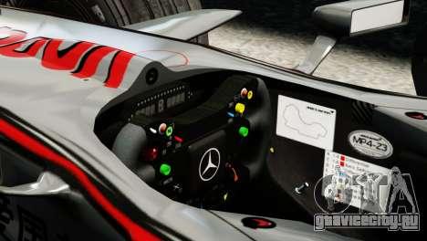 McLaren MP4-23 F1 Driving Style Anim для GTA 4 вид сзади слева