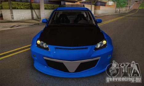 Mazda Speed 3 Tuning для GTA San Andreas вид изнутри