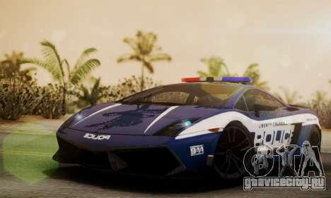 Lamborghini Gallardo LP570-4 2011 Police для GTA San Andreas