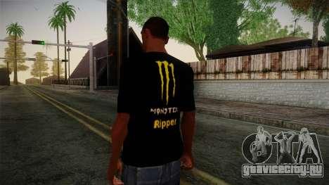 Monster Ripper Shirt Black для GTA San Andreas второй скриншот