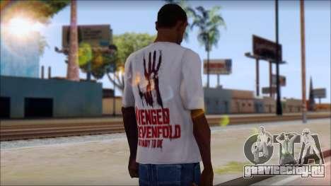 A7X Not Ready To Die Fan T-Shirt для GTA San Andreas второй скриншот