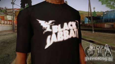Black Sabbath T-Shirt для GTA San Andreas третий скриншот