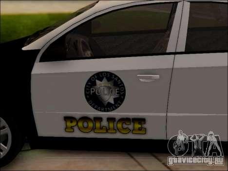 Chevrolet Aveo Police для GTA San Andreas вид снизу
