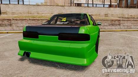 Nissan Silvia S13 для GTA 4 вид сзади слева