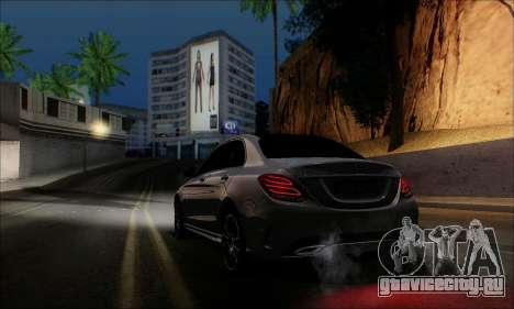 Mercedes-Benz C250 2014 V1.0 EU Plate для GTA San Andreas вид слева