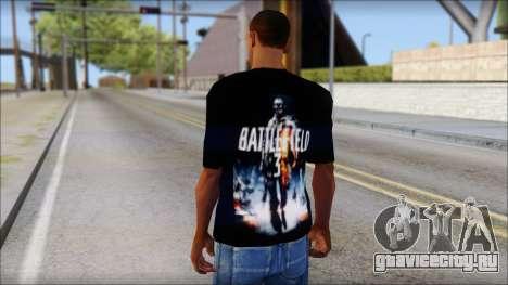 Battlefield 3 Fan Shirt для GTA San Andreas второй скриншот