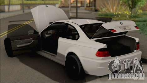 BMW M3 E46 Black Edition для GTA San Andreas вид справа