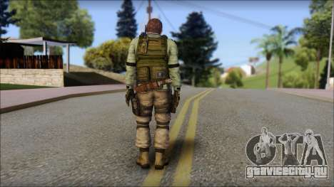 Chris Europa from Resident Evil 6 для GTA San Andreas второй скриншот